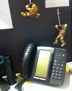 A mystery colleague's desk.