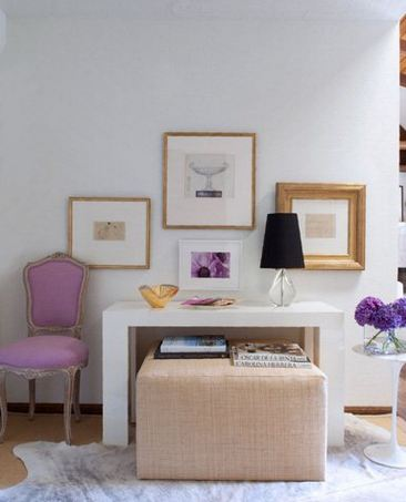 Add pops of lavender to a room with neutrals. Credit: www.lampsplus.com