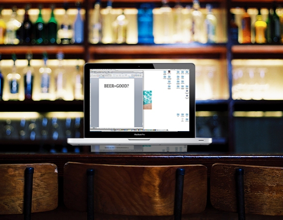 writing-in-a-bar